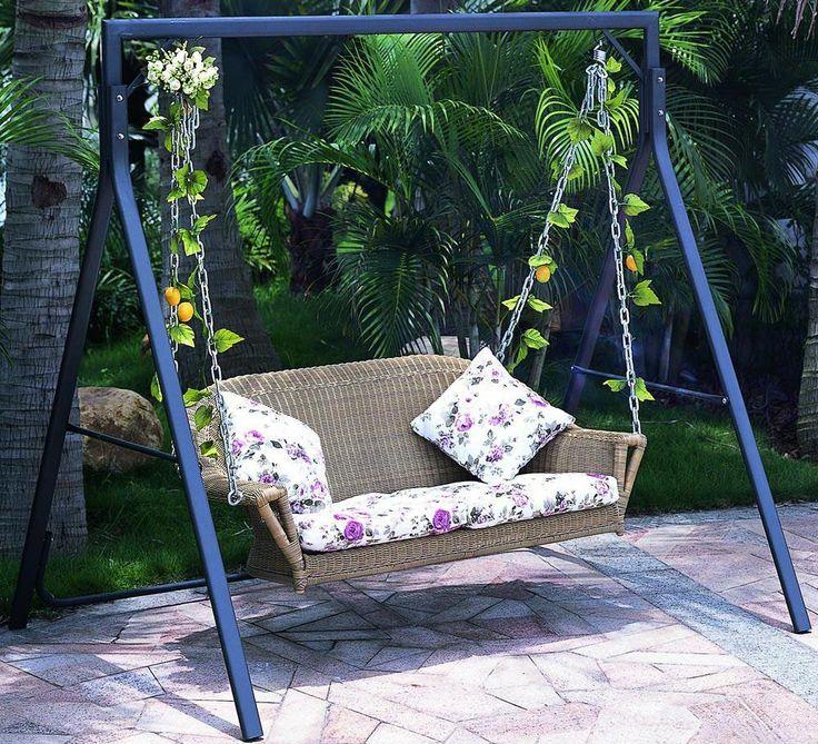 Brown Wicker Hammock Sofa, hammock #hammock