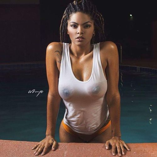 Black girl naked wet shirt