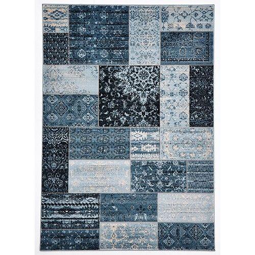 Classique Designer Rug - Kare - Blue - 290 x 200cm