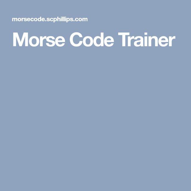 Best 25+ Morse code trainer ideas on Pinterest Morse code - sample morse code chart