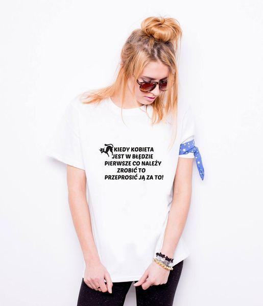 """Koszulka damska """" KOBIETA W BŁĘDZIE  """" w TailorMade24 na DaWanda.com"""
