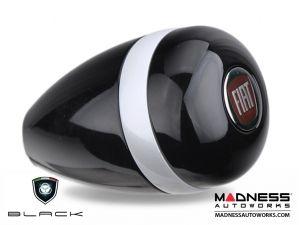 fiat 500 gear shift knob by black black w white stripe fiat logo