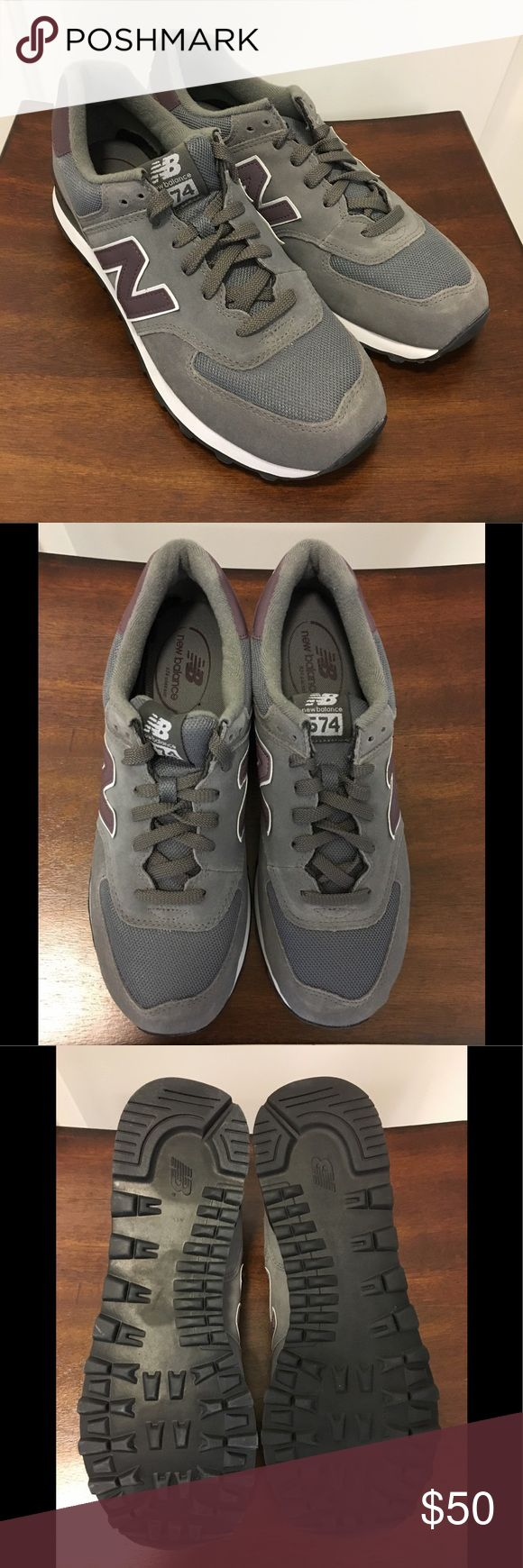New Balance Sneakers - Men New Balance Sneakers - men's. BRAND NEW! Never tried on. Colors: gray & wine. Size: 10 New Balance Shoes Sneakers
