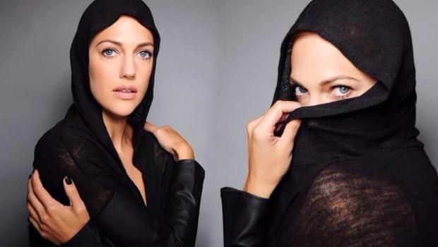 Siyah kapşonlu kıyafetiyle görüntülenen Uzerli'nin bu fotoğrafı Arap hayranları tarafından büyük ilgi gördü.