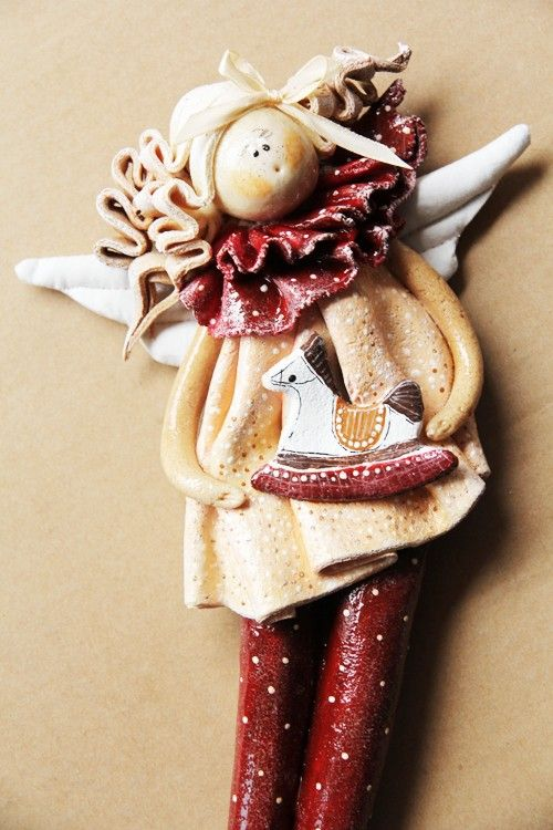 Salt dough by Paulina Silarow / OGdesign Świateczny Anioł no.5 -  Boże Narodzenie