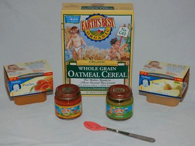 After rice cereal, parents usually try oatmeal cereal and then vegetables and fruits. - Photo © Vincent Iannelli, MD