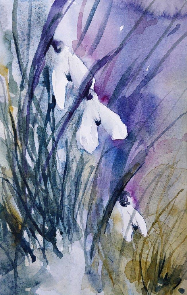 Dessin Et Peinture Video 2715 Comment Peindre Des Perce Neiges