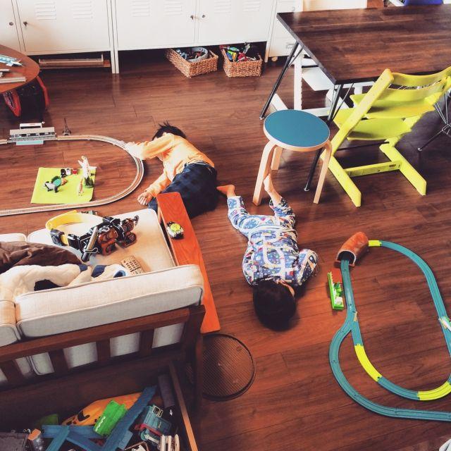 HR85さんの、IKEA,Nゲージ,アアルト,トリップトラップ,artek,子鉄,プラレール,リビング,のお部屋写真