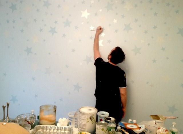 2017trend Metallic Paint And Glitter In The Nursery