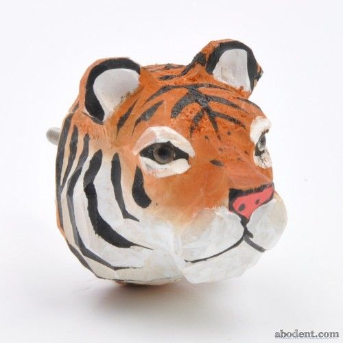 Safari Life Cupboard Knob | Carved animal head cupboard knob, Carved by hand with characterful detail, Realistic resin eyes, Mate texture, hand painted finis, Solid wooden body, wooden animal knob, fun animal handle, cute animal head knobs, children's animal cupboard knobs, door knob, door handle, cupboard handle, cabinet knob, UK 5 cm deep x 5 cm wide x 5 cm high. |  £5.99