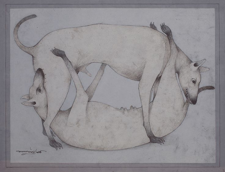 L. P. Shaw Medium: Tempera, pen and ink on paper Year: 1990 Size: 15.6 x 20.1 in.