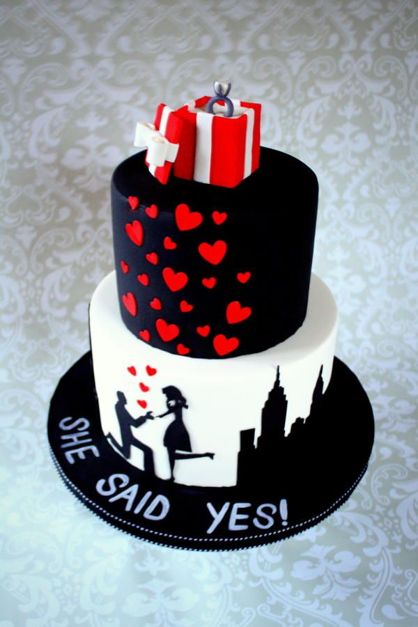 NYC Proposal Cake - Cake by GlykaBakeShop
