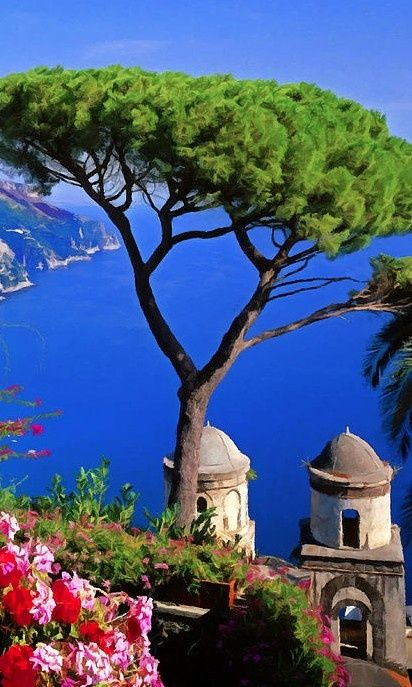 View from the town of Ravello on the Amalfi Coast, Italy, by Rodger Underwood