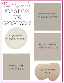Love the term GREIGE. Like that Sherman Williams perfect GREIGE