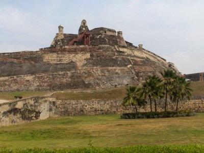 Castillo de San Felipe en Cartegena, Colombia