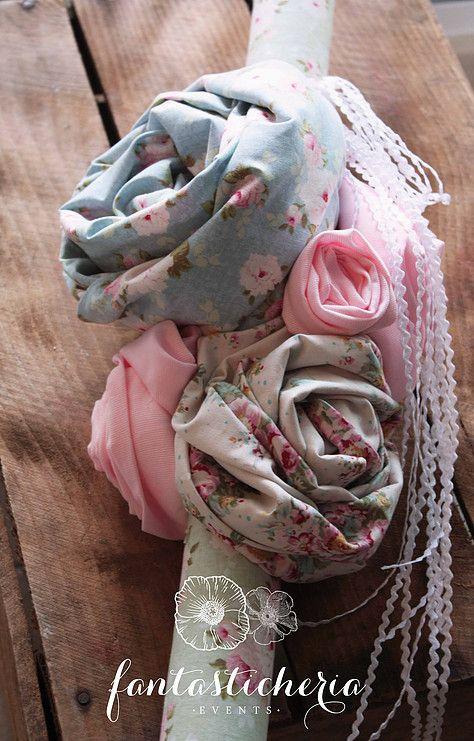 λαμπαδα υφασματινα λουλουδια