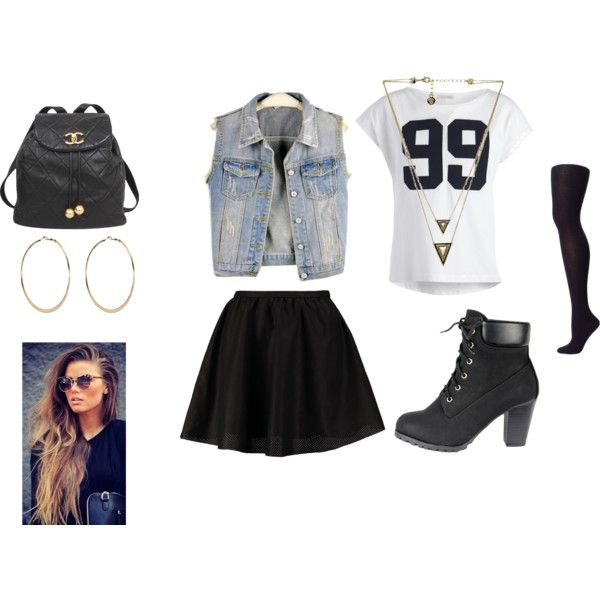 """""""my outfit school"""" by nicola-gabcova on Polyvore"""