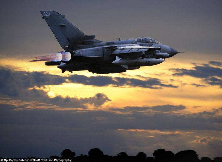 Tornado GR4 aircraft launching from RAF Marham loaded with Storm Shadow cruise missiles [Photo: Corporal Babbs Robinson, RAF Marham]