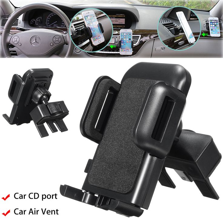 2 in 1 Phone Stand Car Air Vent Mount CD Slot Holder for under 6 inches Smartphone  Specification: Name : Car CD Slot Air Vent holder Material:Acrylonitrile Butadiene Styrene plastic Color:Black Sizes:110x115x95mm Features: -Wide applicability: Universal mobile phone support suitable for most intelligent mobile phone which witdh is 40mm-85mm -360 degree rotation: Spherical rotary joint Mobile phone bracket can rotate 360 degreeserspective can be arbitrary regulationSingle hand operationEasy…
