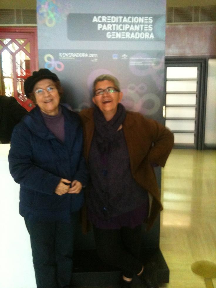 Con Teresa en un congreso en Sevilla