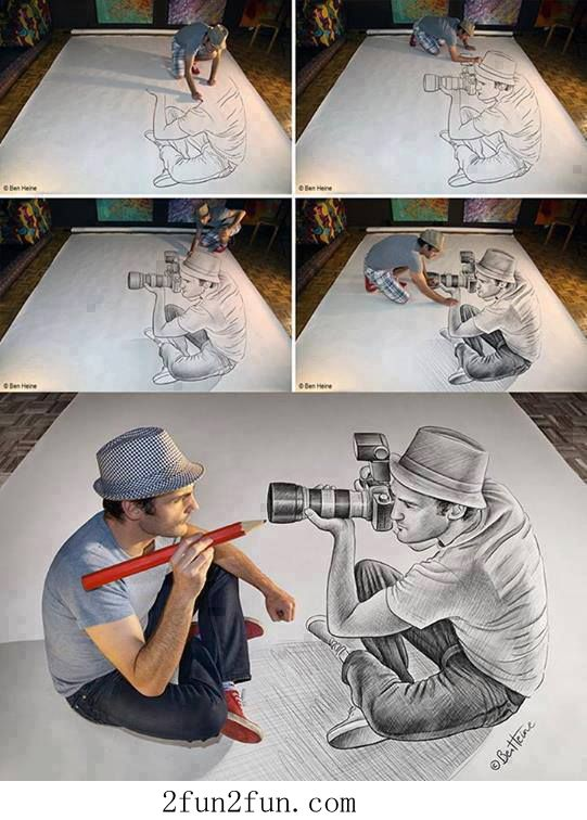 That's on a piece of paper!!! Like what?!?! Its just amazing! | drawing | doodling | 3D drawing