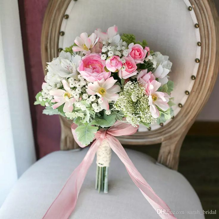 New Arrial Pink Country Mori Bridal Bouquets 2017 Stardust Cosmos Bride Photography Beach Wedding Supplies Artificial Bridesmaid Flower Bride Holding Brooch Bouquet Mori Bride Bouquet Artificial Wedding Bouquet Online with $98.29/Piece on Sarah_bridal's Store | DHgate.com