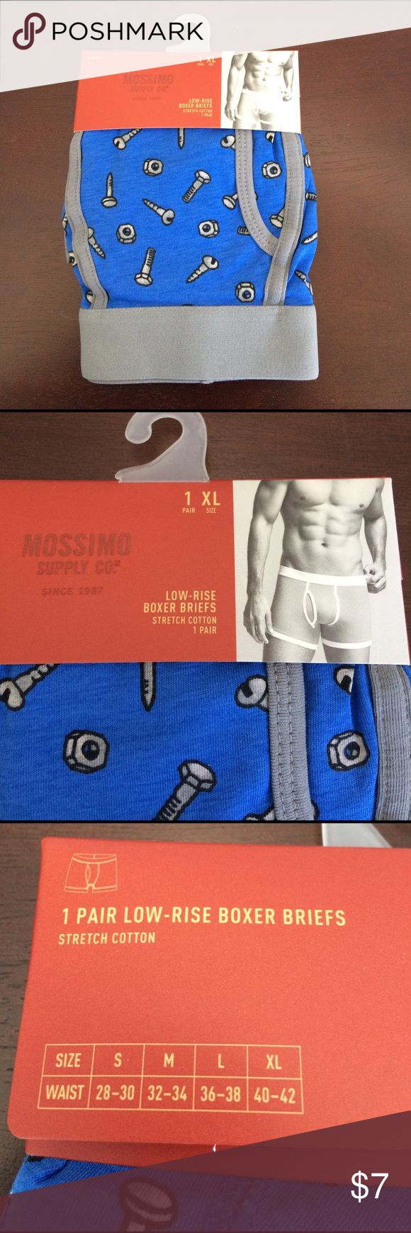 Men's boxer briefs. Men's extra-large boxer briefs with nuts and bolts perfect for the mechanic in your life. Mossimo Supply Co Other