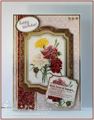 Crafting with Cotnob, Floral, Hunkydory, Hunkydory Birth Flowers Collection, Ooh La La Creations