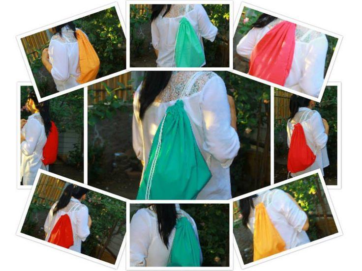 Mochilas de lona by stretch popelina y otras  unisex  amplias y para todo tipo de uso... confección propia diseños exclusivos!!!  TEN LA TUYA!  precios inbox