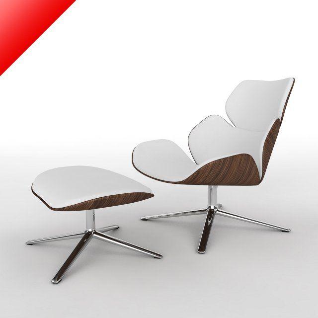 3d model shrimp chair ottoman c4d obj 3ds fbx 3d furniture pinterest models ottomans. Black Bedroom Furniture Sets. Home Design Ideas