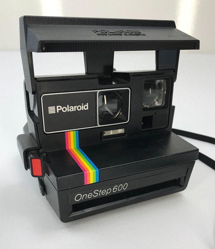 Polaroid One Step 600 Land Camera Tested Rainbow Instant Film Strap Untested hip #Polaroid