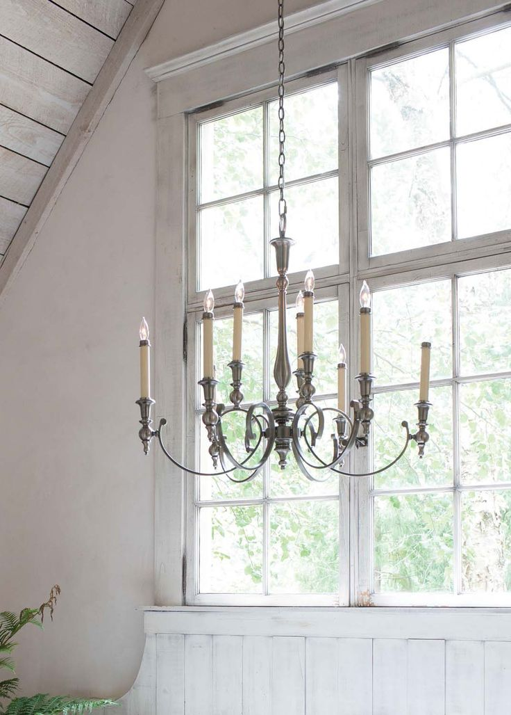 pendant candelabra - silver chandelier