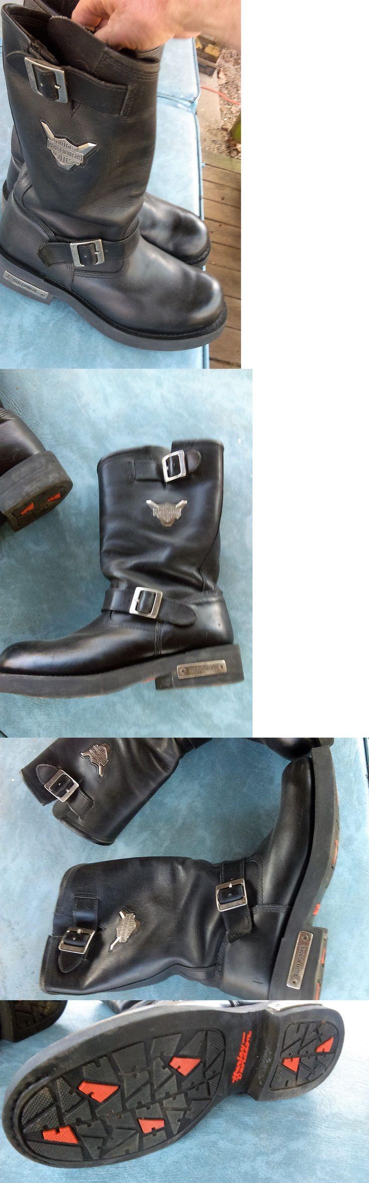 Motorcycles: Harley Davidson Motorcycle Boots 91135 Size 12 -> BUY IT NOW  ONLY: · Harley Davidson Motorcycle BootsSize 12Men's Fashion