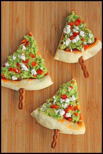 christmas tree pizzas