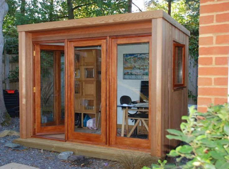Landscaping And Outdoor Building , Outdoor Garden Shed Home Office : Garden  Shed Home Office With