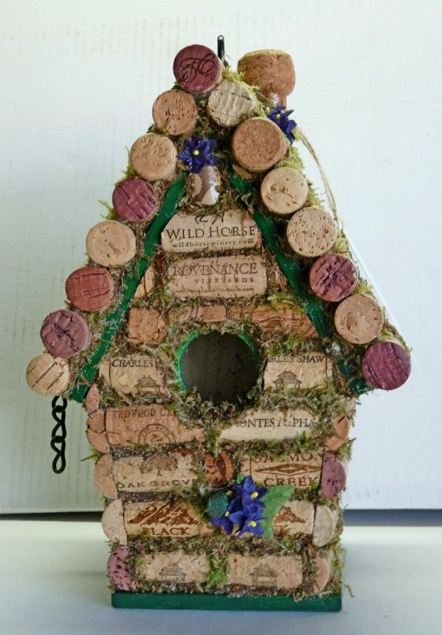Cork Bird House-love it