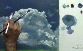 Como pintar nubes