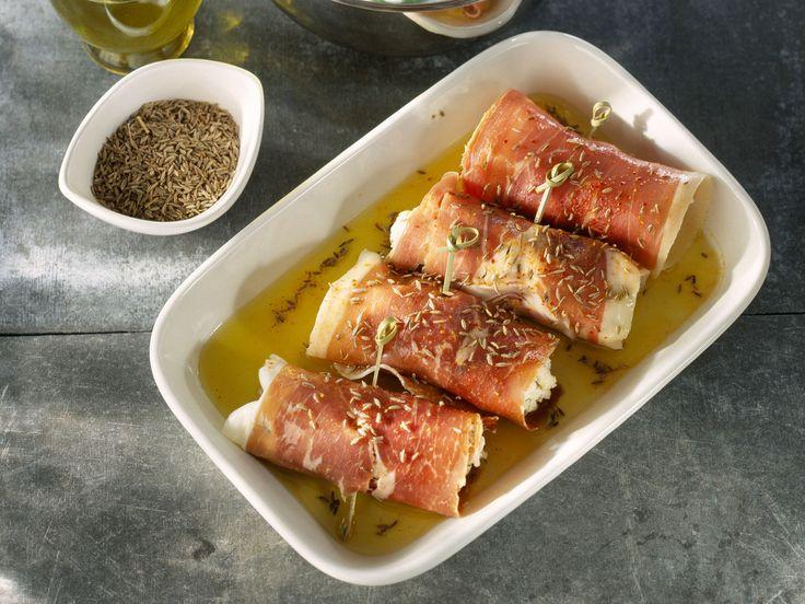 Découvrez la recette Roulés jambon chèvre sur cuisineactuelle.fr.