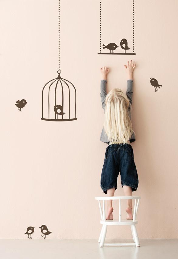 Ferm Living KIDS wallstickers - Tweeting Birds by Ferm Living KIDS | the KID who