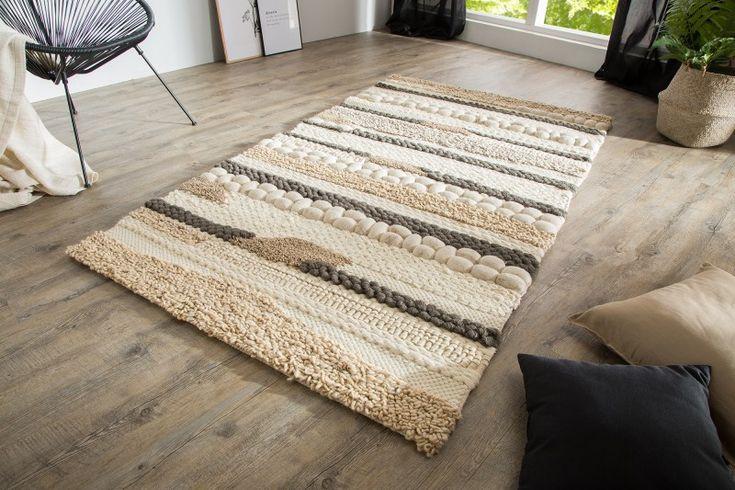 Luxusný koberec béžovo šedý PATH NATURAL