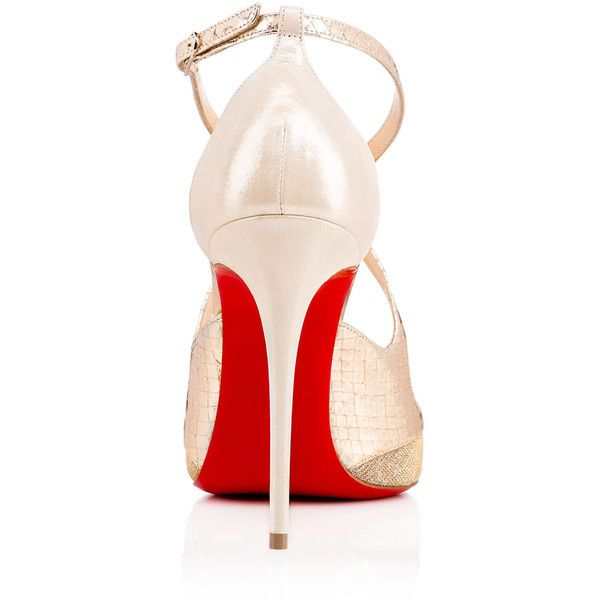 Christian Louboutin Crissos (23 775 UAH) ❤ liked on Polyvore featuring shoes, pumps, vintage high heel shoes, high heel pumps, high heeled footwear, leather high heel shoes and d orsay pumps