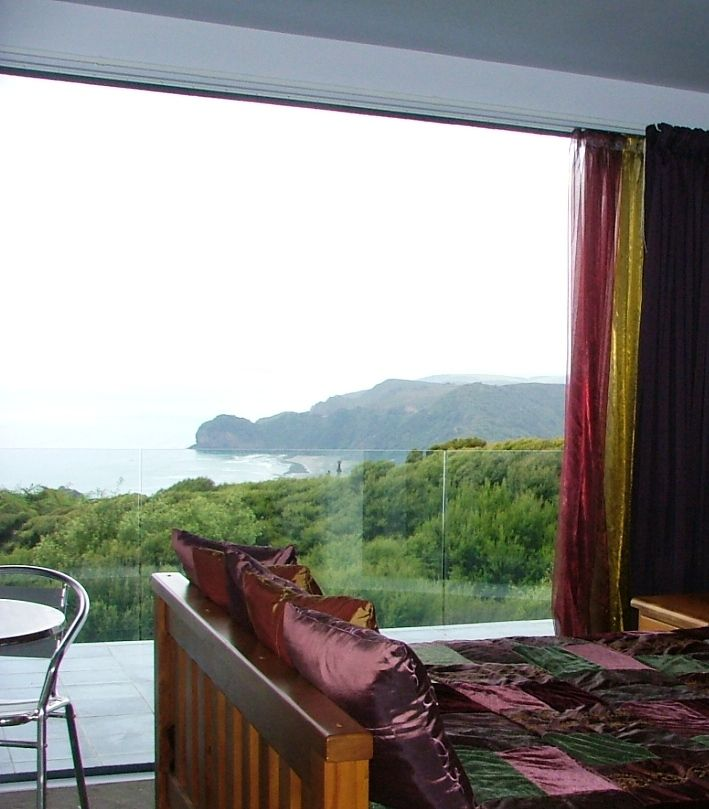View up the coast from Bedroom