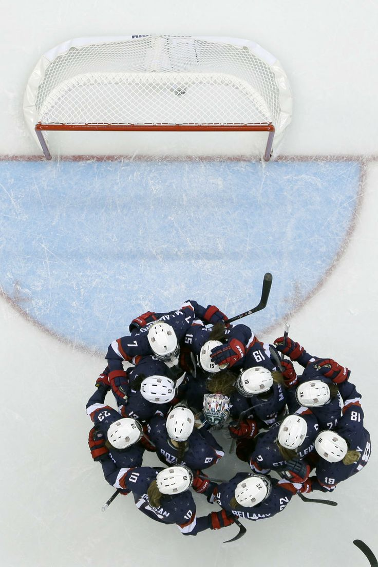 Americans hold off Finland 3-1 in women's hockey - The USA women's hockey team celebrates their 3-1 win over Finland during at the Shayba Arena during the 2014 Winter Olympics, Saturday, Feb. 8, 2014, in Sochi, Russia. (AP Photo/Matt Slocum )