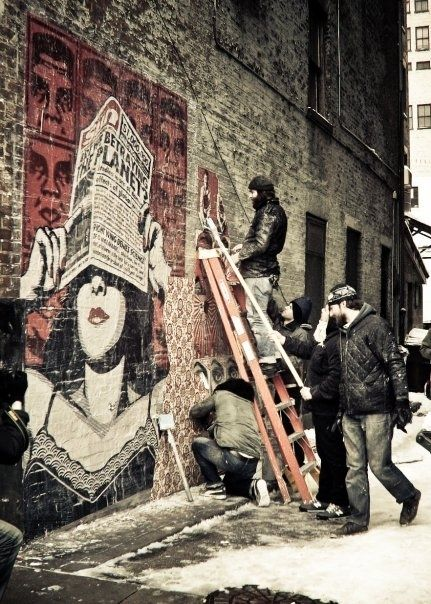 Shepard Fairey (Los Angeles, California) | Community Post: 9 World Famous Street Artists You Never Would Have Guessed Are In Cincinnati