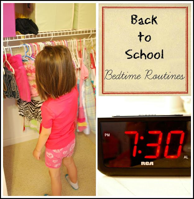 Back to school bedtime routines to help get your kids well rested for school.