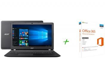 "Notebook Acer Aspire ES1 Intel Quad Core 4GB 500GB - LED 15,6"" Windows 10 + Microsoft Office 365"