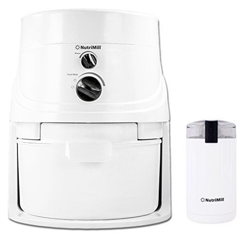 NutriMill Classic High-Speed Grain/Flour Mill with Mini Seed/Coffee Mill by Lequip  - Perfect for grinding rice flour! Disclosure: This Pin contains an affiliate link and if you click on the link I will receive a commission but it won't affect your cost.