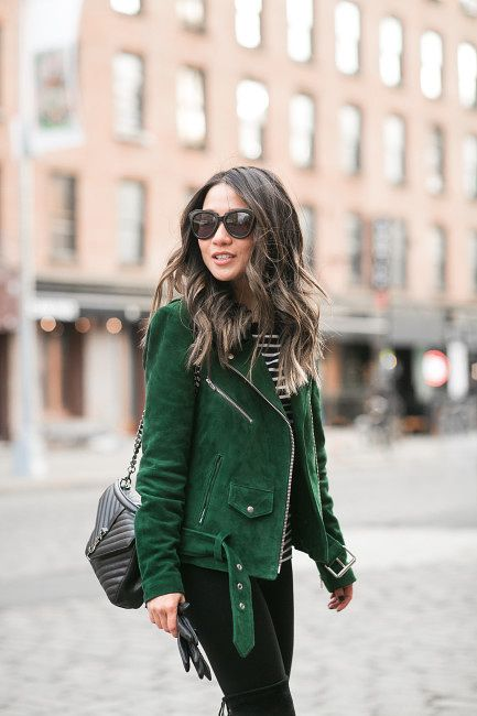 Frozen :: Green suede jacket & High boots Wendy's Lookbook waysify