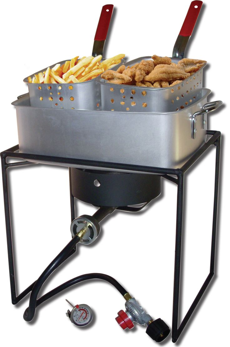 Rectangular Welded Fish Fryer