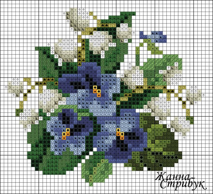 Violets and lily of the valley chart
